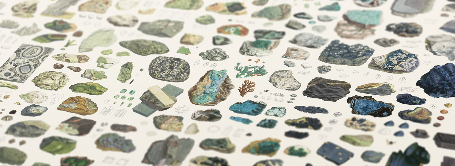Closeup of mineralogy poster