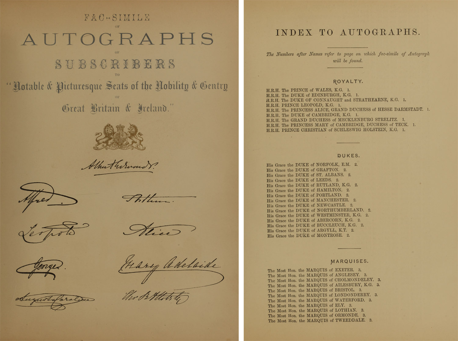 Original scans of signatures of royalty