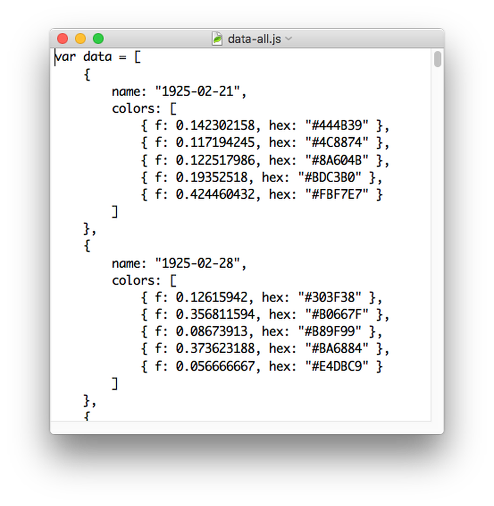 JSON screenshot