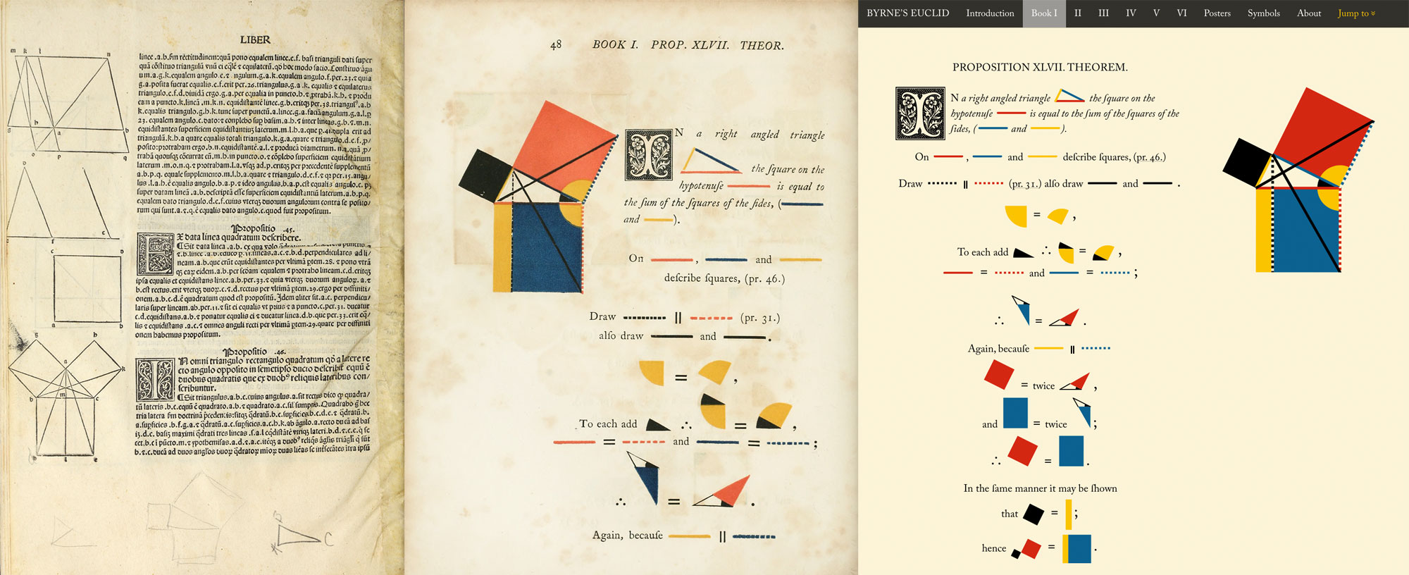 Comparison between first printed edition, Byrne's version, and the new web version