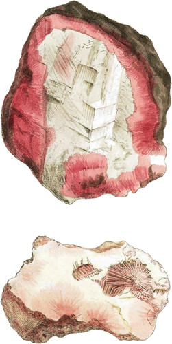 Red Mesotype and Red Zeolite