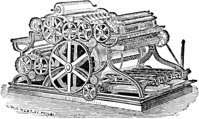 Drawing of a Bullock press