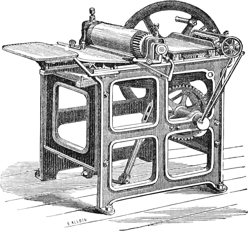 Drawing of a a Little Diamond Jobbing Machine